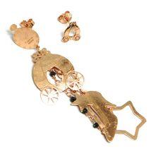 Drop Earrings Silver 925, Carriage, Shoe, Magic Wand, le Favole image 3
