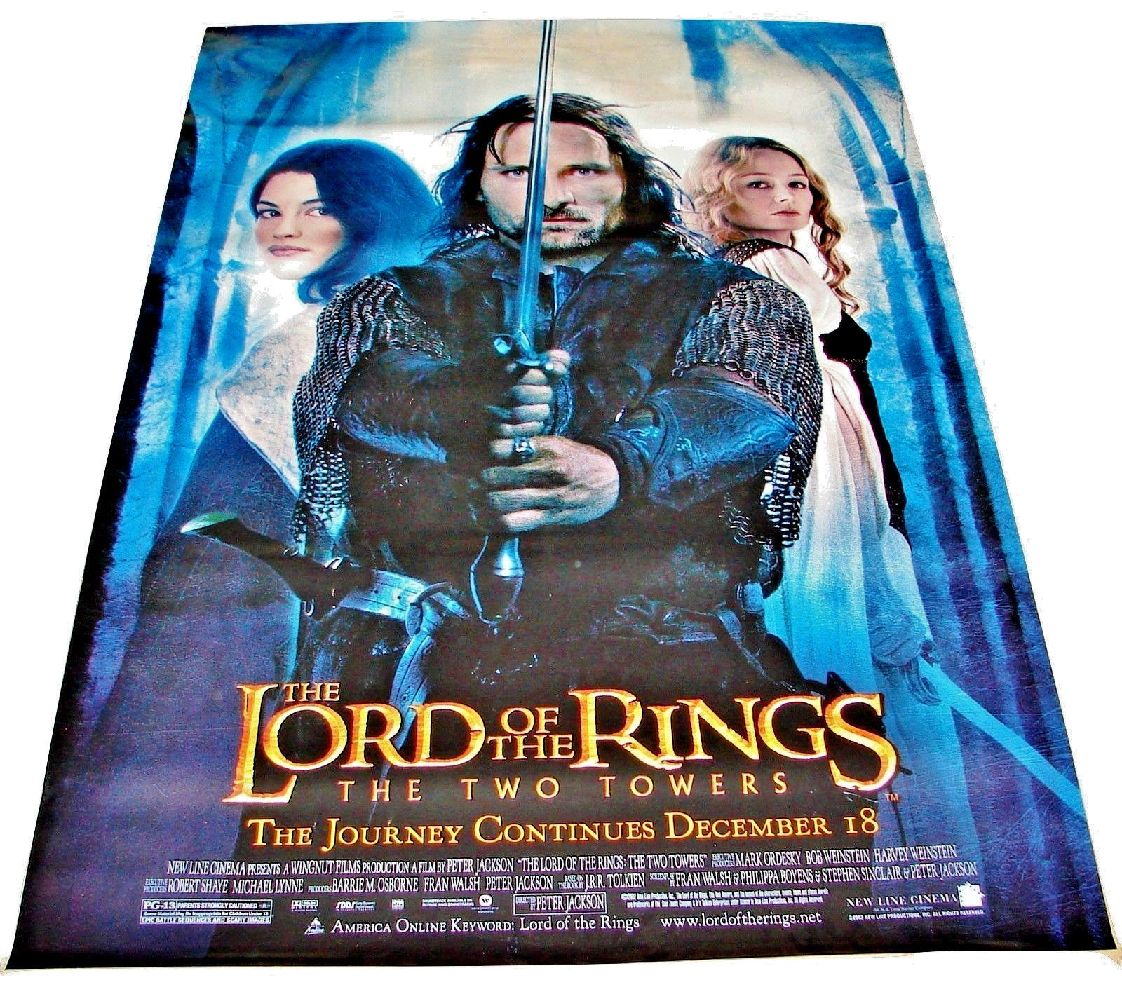2002 LOTR: THE TWO TOWERS Original Backlit Movie DS Poster 48x72 (23)