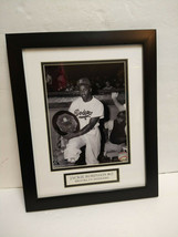 Jackie Robinson Hall of Fame Brooklyn Dodgers framed photo accepting awa... - $43.65