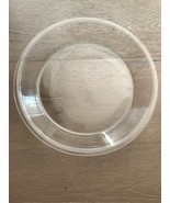 """Vintage Pyrex Pie 210 Large Clear 10"""" FLAT EDGE Rimmed Pie Plate USA - $10.00"""