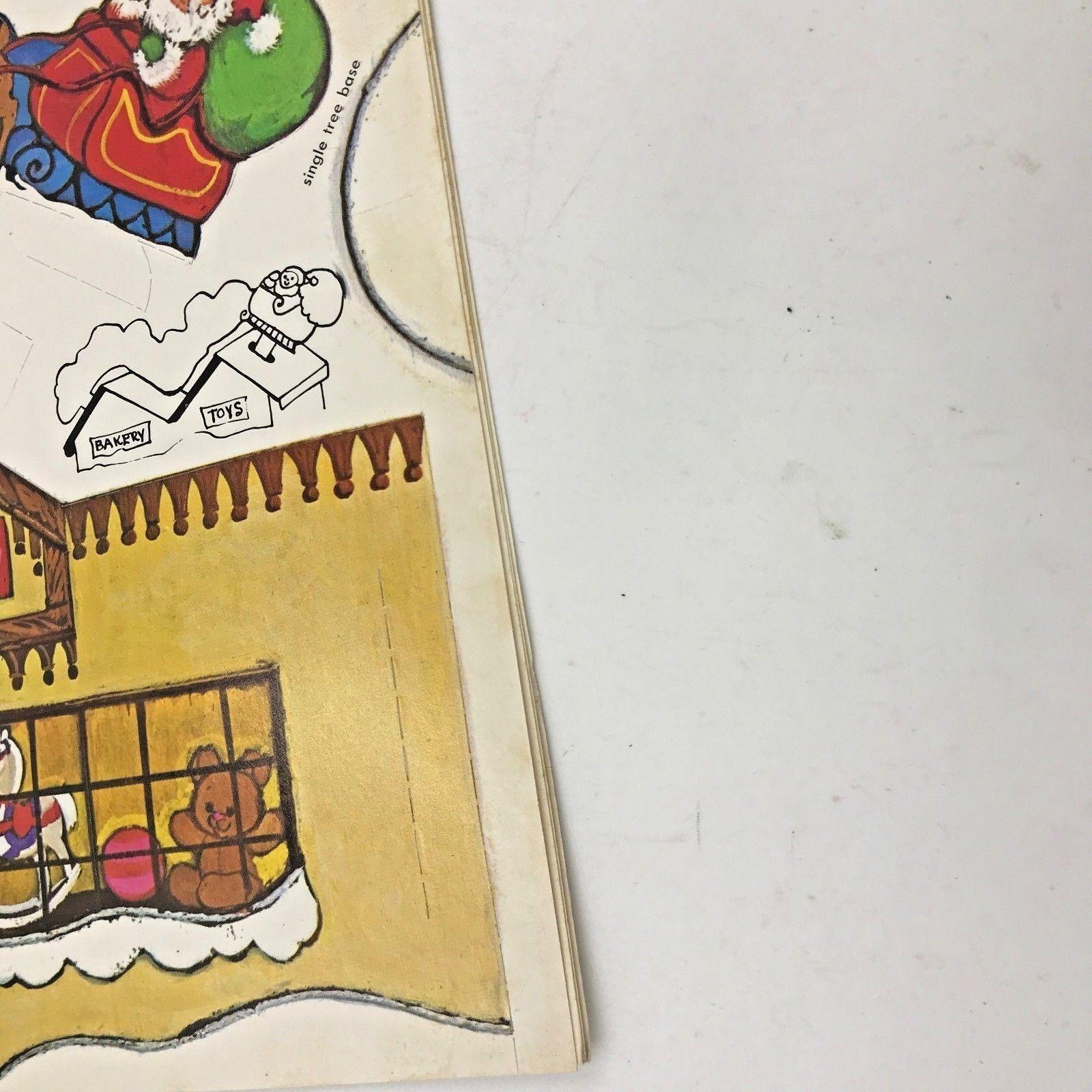 Vintage 1975 Whitman Santas Christmas Village Unused Paper Book SEE DESCRIP BK0