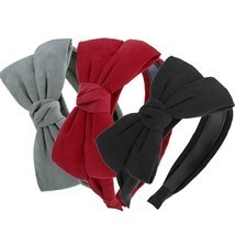 Big Bow Women Hairband Headband Velvet Hair Accessory Hair Bands Suede K... - €8,84 EUR