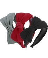 Big Bow Women Hairband Headband Velvet Hair Accessory Hair Bands Suede K... - ₹709.74 INR