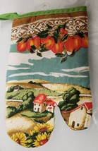 Thin Printed KITCHEN Oven Mitt, APPLES & THE FARM by Andeya - $7.91