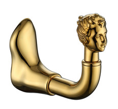 Classic style bathroom brass Beauty design clothes hook robe hook Gold color - $59.39