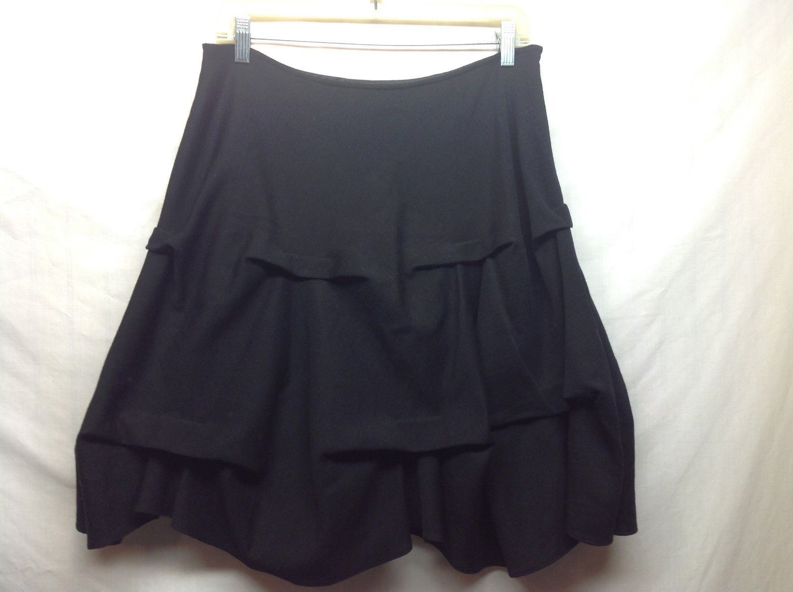 Annie Walwyn Jones Black A-Shape Skirt Sz M