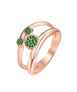 0.30 ct Round Cut Diamond  14k Rose Gold Over 925 Silver Cute Mickey Mou... - $69.35