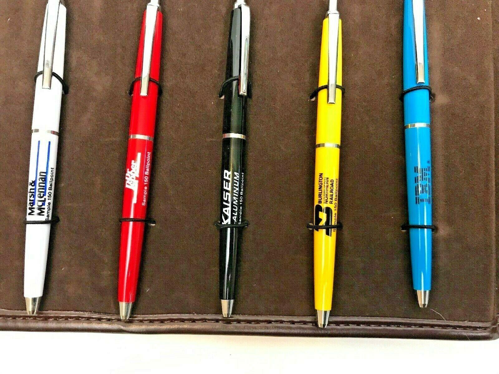 Sheaffer Saleman Sample Pens Company Logos & Travel Case Lot 1986