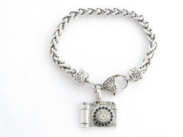 Camera Photography Photographer Photo Crystal Lobster Claw Bracelet Jewelry - $12.65