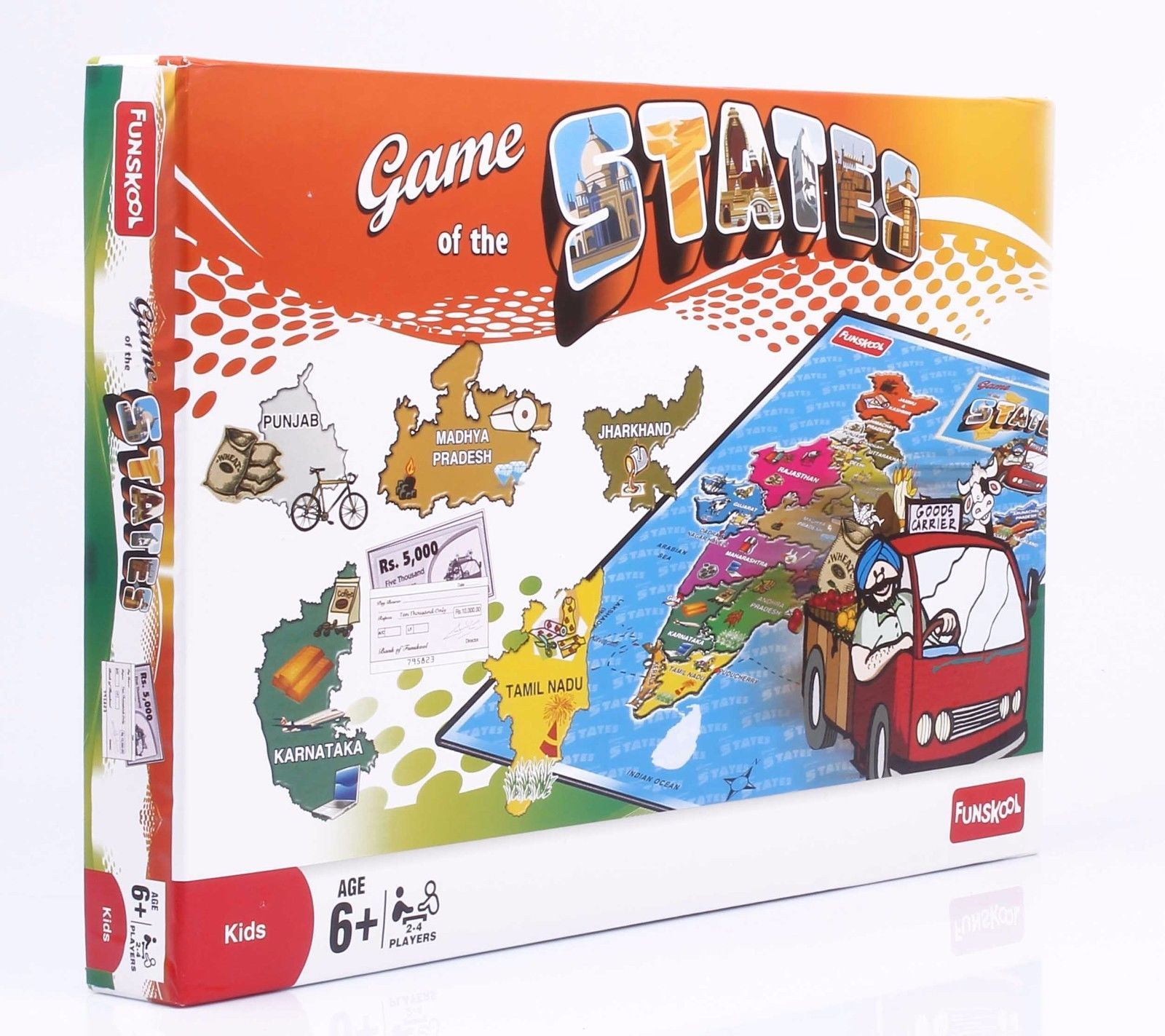 Funskool Game of The States Educational Games Players 2-4 Age 6+ image 4