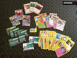 120 Pokemon Trading Playing Holo Rare Cards Lot w/ Rewards & Metal GX Te... - $39.59