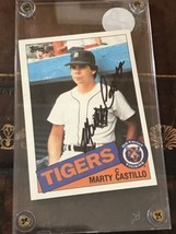 MARTY CASTILLO AUTOGRAPHED 1985 TOPPS BASEBALL CARD SIGNED DETROIT TIGERS - $28.42