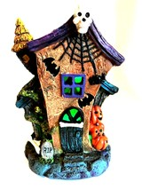 Halloween Haunted House LED Color Changing Lights Holiday Decor 7.5 inches Tall - $18.80
