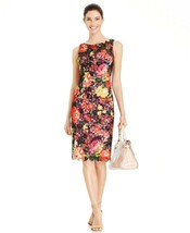 NWT Adrianna Papell Floral Print Lace Dress Sz 4 - $49.99