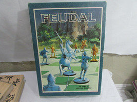 Vintage 1967 FEUDAL Bookshelf Board Game  Original Box Awesome 3M  - $24.74