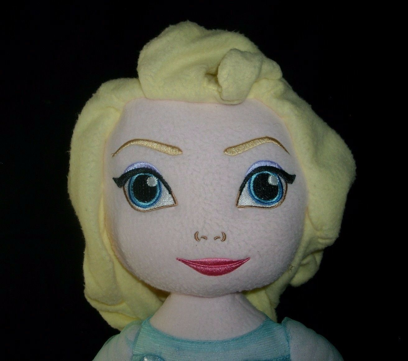 "24"" JUMBO DISNEY PRINCESS FROZEN ELSA BLUE DRESS STUFFED ANIMAL PLUSH TOY DOLL"