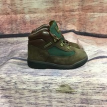 Timberland toddler boots brown green beef broccli lace up  size 12 - $28.04