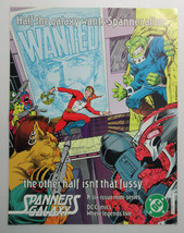 1984 Spanner's Galaxy 21 1/2 by 16 3/4 DC Comic book universe promo post... - $29.99