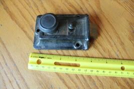 Cast Iron Door Rim Night Latch Vintage twist knob lock Antique salvage - $18.41