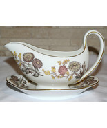 Wedgwood Lichfield * GRAVY BOAT & ATTACHED UNDERPLATE * Bone China, Excellent - $32.99