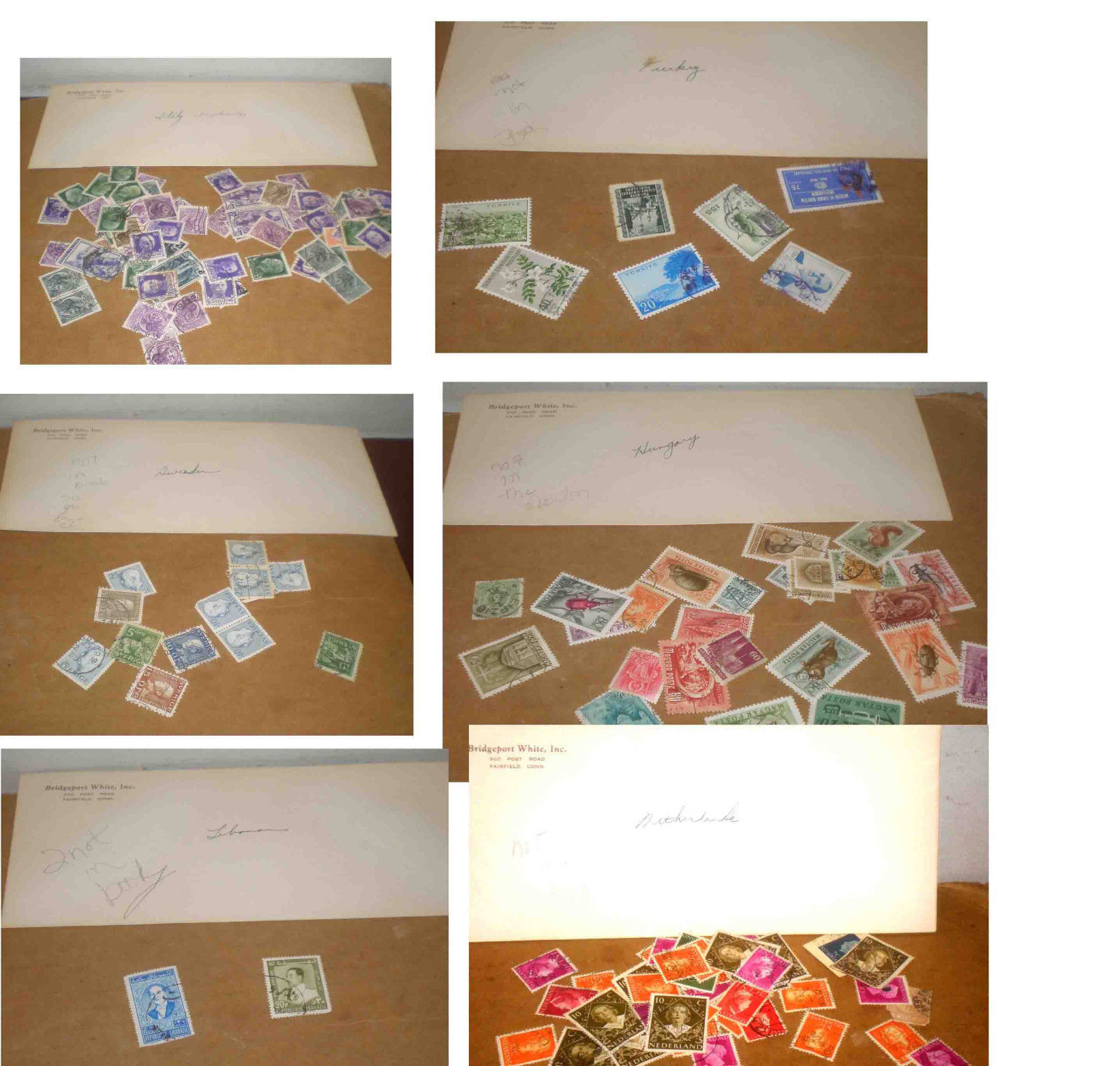 40 ENVELOPES OF COLLECTORS OLDER STAMPS FROM AROUND THE WORLD