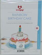 Lovepop LP2552 Rainbow Happy Birthday Cake Pop Up Card White Envelope image 6