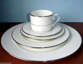 Lenox Apropos 5 Piece Place Setting Platinum Banded Dinnerware Set New - $72.90