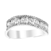 NWT GLK 18K WHITE GOLD 1.25CT DIAMOND EMBELLISHED CURVED BAND SIZE 7 - £1,793.24 GBP
