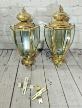 """Set Of 2 Vintage Outdoor Wall 16"""" Sconces - $74.24"""