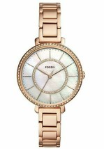 NEW! FOSSIL Womens Watch Jocelyn Rose Gold-Tone Glitz Mother of Pearl ES... - $75.00