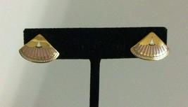 "Signed Laurel Burch ""Catherine"" sm Triangular Enamel Cloisonne Post Earrings - $24.74"