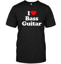 Love Heart Bass Guitar Funny Top T Shirt - $17.99+