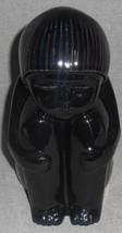 Vintage HARRIS POTTERIES Glossy Black ALASKAN/INUIT/NATIVE AMERICAN Figu... - $39.59