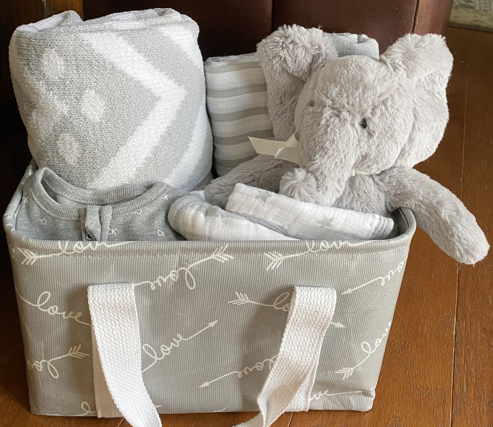 Primary image for Eaton Elephant Diaper Baby Gift Basket