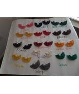 Macrame Earrings. Macrame Hoop earrings. Fan earrings. Tassel earrings. - $10.00