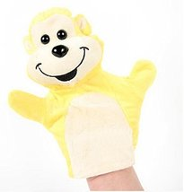 Cartoon hand puppet preschool educational toys for Toddler(Yellow Monkey)