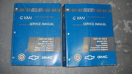 1997 Chevy Express Gmc Savana G Van Service Repair Shop Manual Set 2 Volume Oem - $69.25
