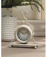 VINTAGE STYLE TABLETOP CLOCK Antique White - $29.62