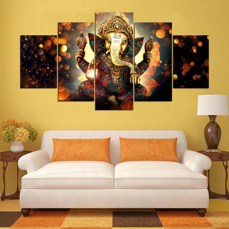 Ganesha Panel Elephant Wall Art Canvas and 50 similar items