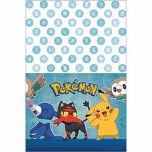 Pokemon Core Party Plastic Tablecover 1 Per Package Birthday Supplies New - $6.43