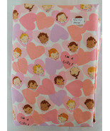 Fabric Alexander Henry, Nicole DeLeon, 2001, Its A Girl, Border Print 42... - $24.99