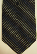 "GORGEOUS Jhane Barnes Made in Japan Black With ""Target"" Zig-Zag Silk Tie - $29.99"