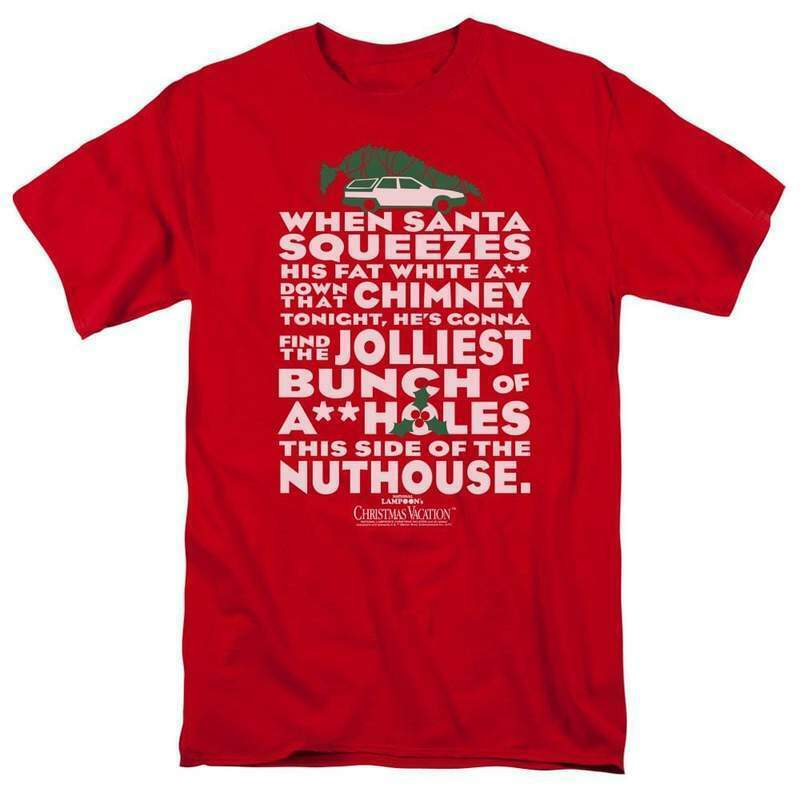 National Lampoon's Christmas Vacation t-shirt Griswold red graphic tee WBM652