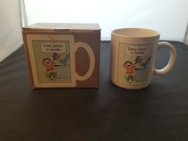 EUC Hallmark Every Opinion Is Valuable Funny Coffee Mug With Box Made In... - $9.62