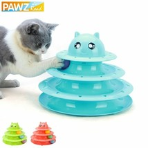 PAWZ® 3 Level Funny Pet Cat Toys Crazy Balls Plastic Disk Interactive - $21.34 CAD