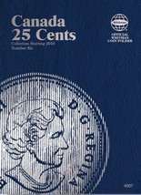 Canada 25 Cents No. 6, 2010-2013, Whitman Coin Folder - $5.75