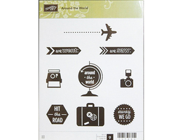 Stampin' Up! Around the World Rubber Cling Stamp Set #131083