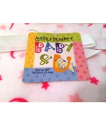 Cuddly Blanket BABY & U 30 x 40 inches Pink Mink Soft Moon & Stars Pattern - $27.72