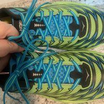 HOKA One One CLAYTON 2 Blue YELLOW running Shoes Men's SIZE 11 image 7