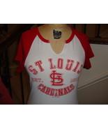 MLB St. Louis Cardinals Cute Ladies Fit T shirt Size M - $15.48